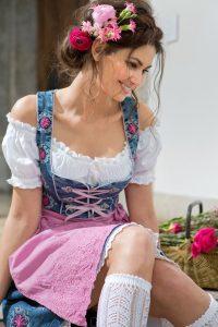 Blaue Maid - Superstretch-Dirndl