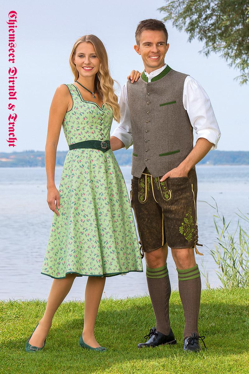 Trachtenkleid Zillertal & Weste sowie Hirschlederhose Leonhard