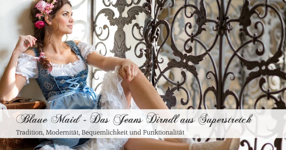 Blaue Maid - Denim Dirndl aus Superstretch