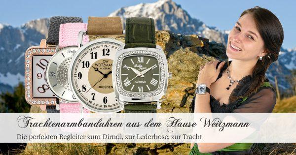 Trachtenarmbanduhren aus dem Hause Otto Weitzmann Augsburg