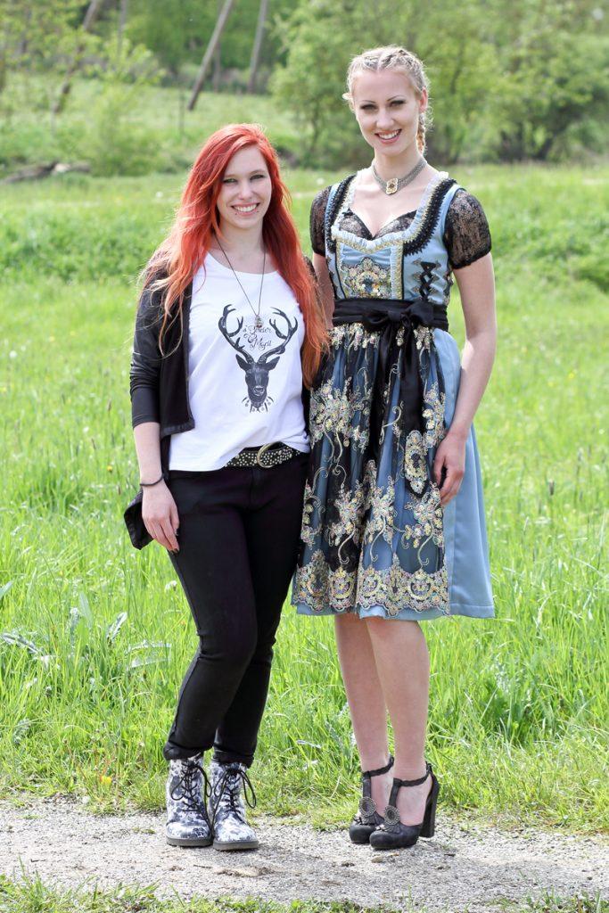 Chantal Ginder und ihr Model